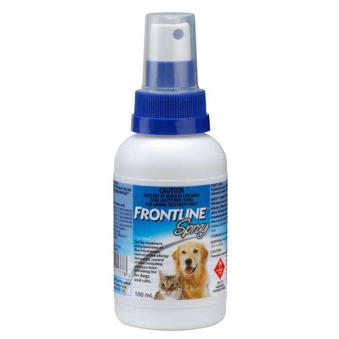 Frontline 100ml Spray Swanbourne Vet Centre