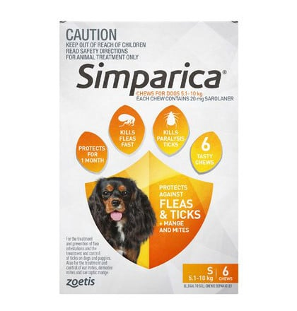 Simparica Dog 5kg 10kg Swanbourne Vet Centre